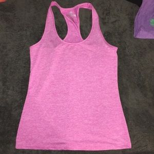 Pink racer back workout tank